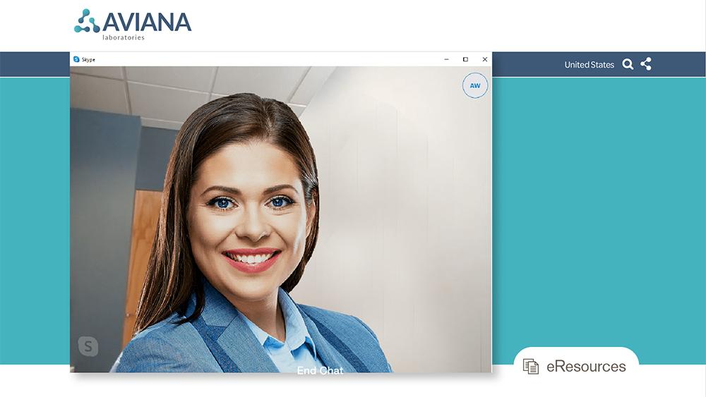 Businesswoman on skype call